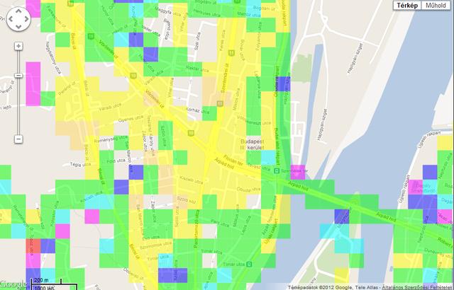 3G lefedettség a III. kerületben