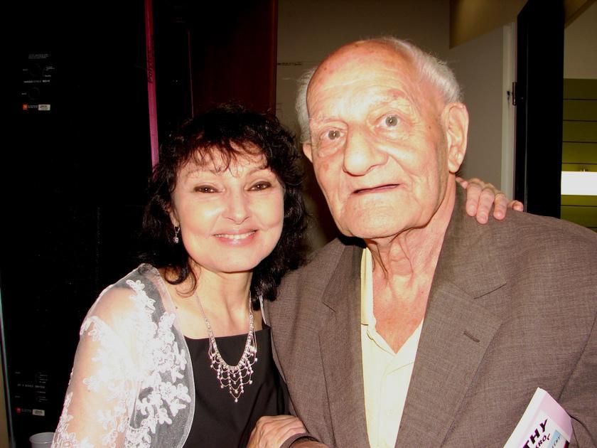 Szíj Melinda idén májusban Bradányi Iván dalszerzővel.