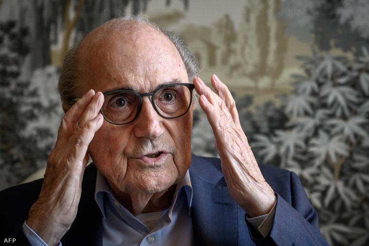 Sepp Blatter egy AFP interjún Zürichben 2019. május 28-án.