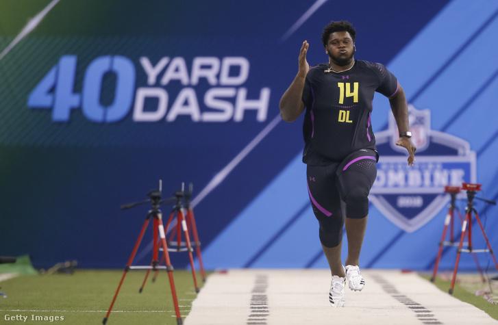 Kendrick Norton a 2018-as NFL-draft előtti játékosfelmérőn, a combine-on
