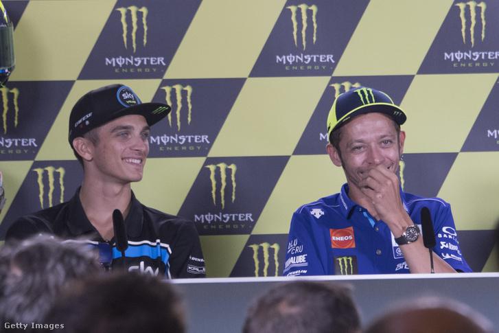 A két motoros testvér, Luca Marini és Valentino Rossi