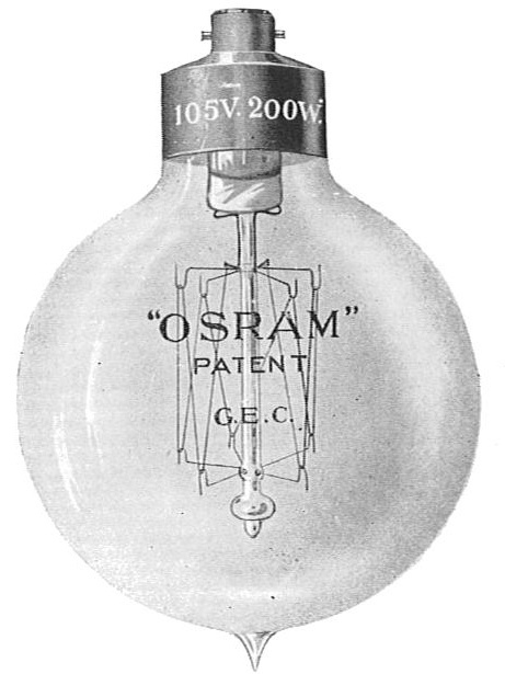 Osram izzó 1910-ből