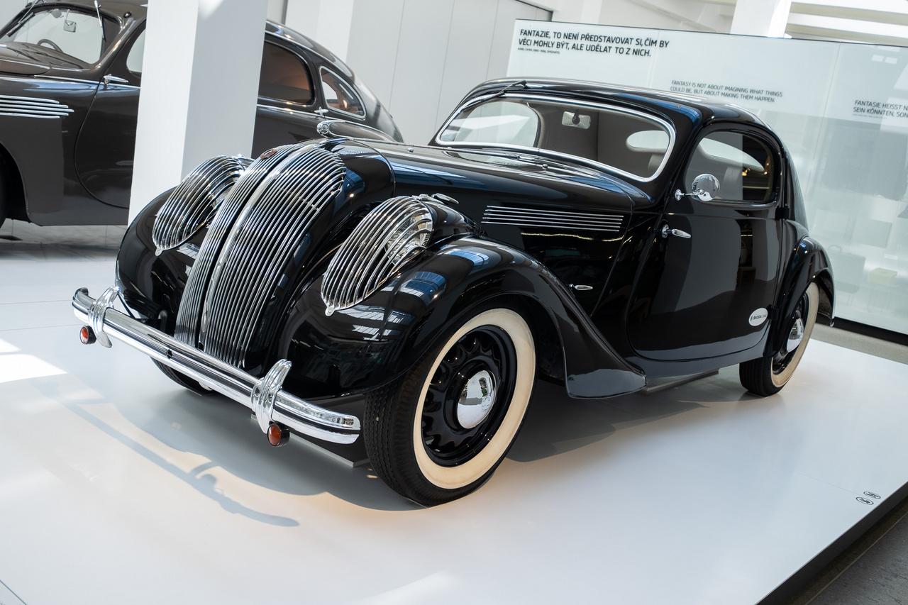 Skoda Popular Monte Carlo 1937-ből. Ennek viszon kevésbé logikusan Typ 909 a gyári kódja