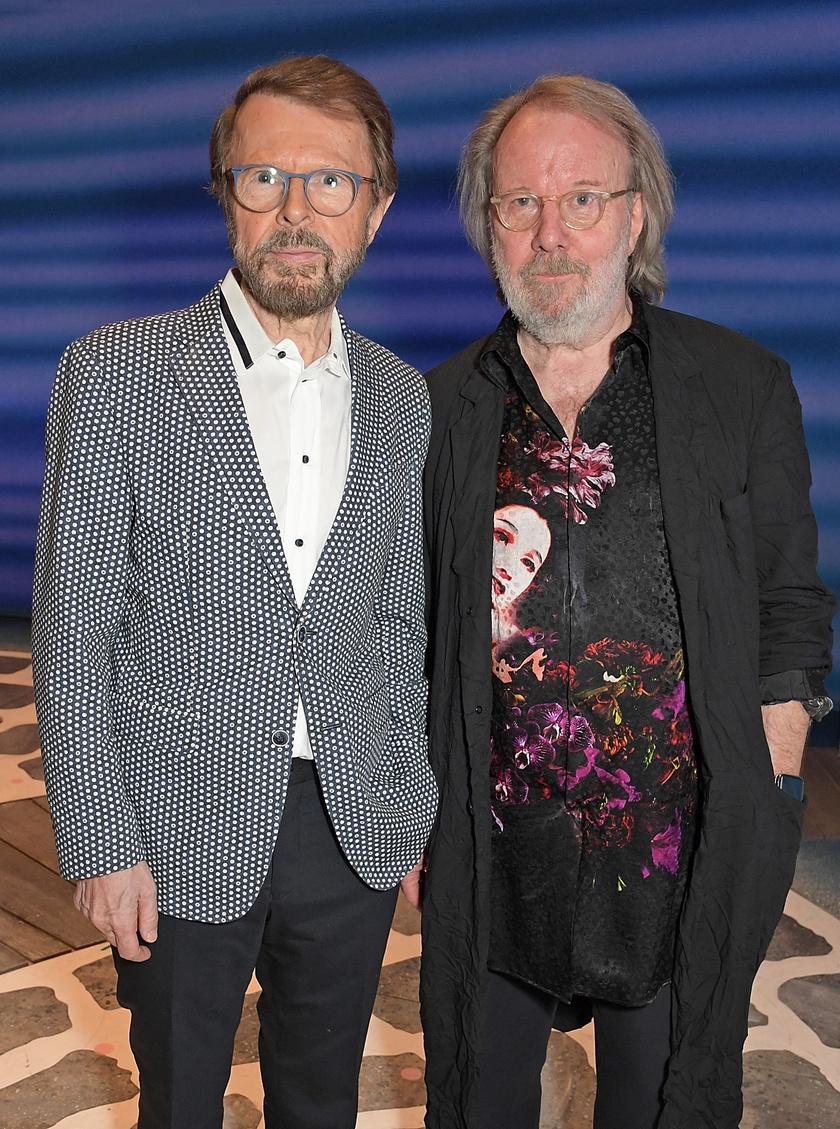 Björn Ulvaeus és Benny Andersson a Mamma Mia! című színházi musical 20. évfordulójának ünnepségén jelentek meg együtt 2019 tavaszán.