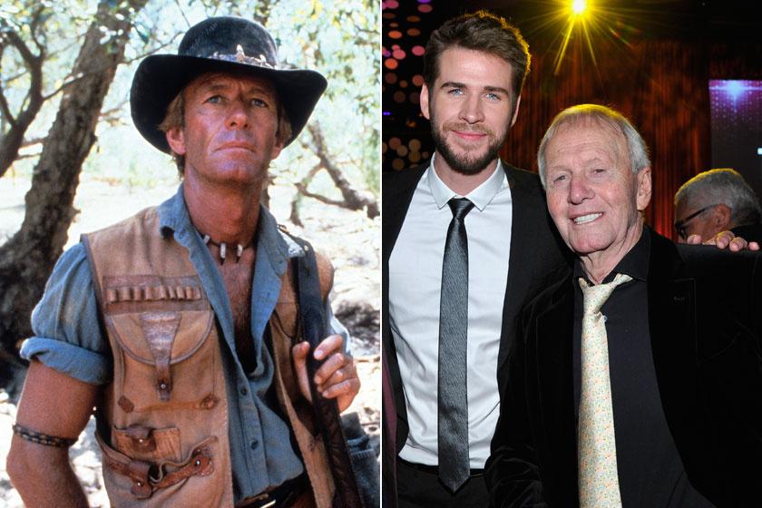 Paul Hogan jobb oldalon Liam Hemsworth színésszel látható.
