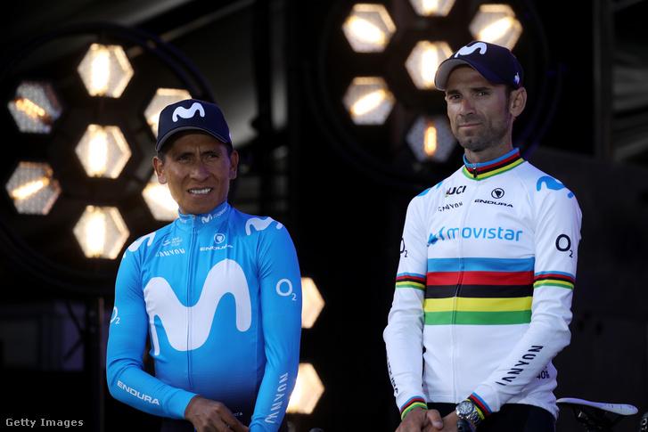 Nairo Quintana és Alejandro Valverde