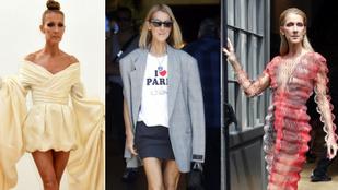 Céline Dion extravagáns ízlését és a combjait is többször megmutatta a divathéten