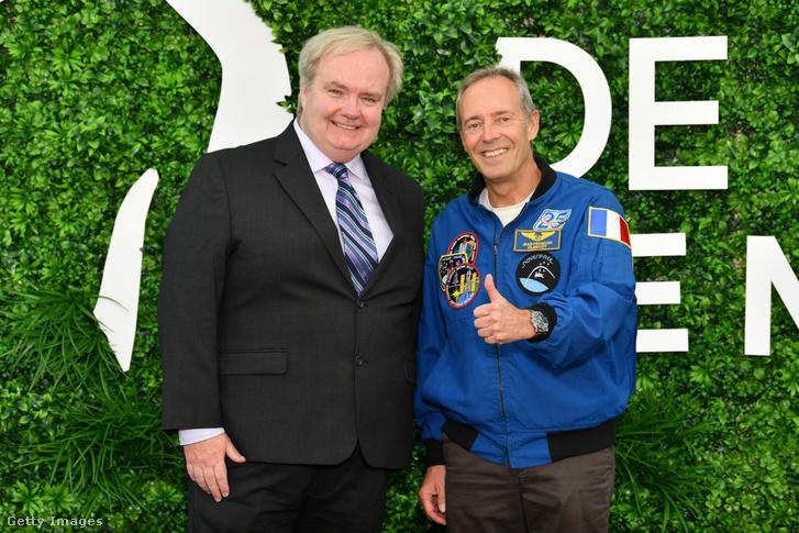 Tom Jennings rendező-producer és Jean-Francois Clervoy francia űrhajós