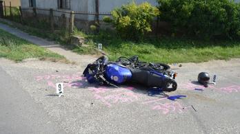 Meghalt egy budapesti motoros Besenyőtelken