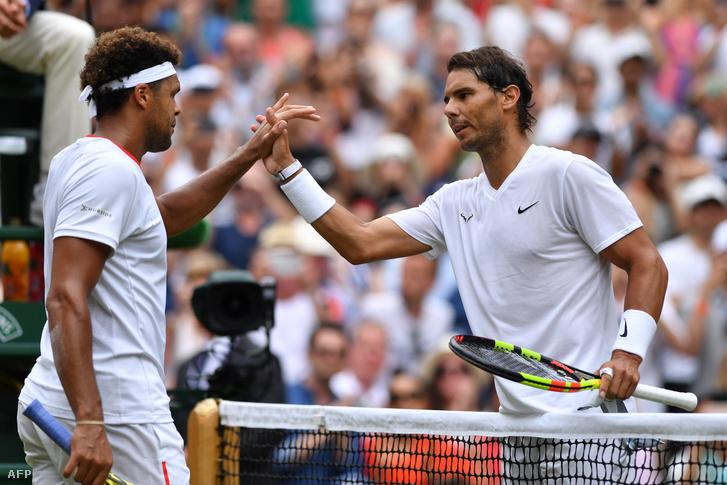 Jo-Wilfried Tsonga és Rafael Nadal Wimbledonban