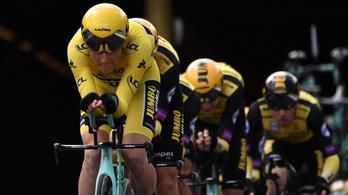Tour: a sárga trikós csapata sokkoló idővel nyerte az időfutamot