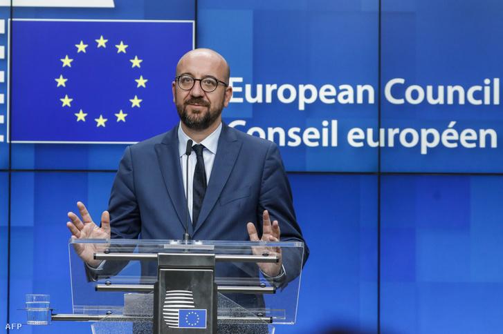 Charles Michel, Belgium miniszterelnöke a legutóbbi brüsszeli csúcson, július 2-án