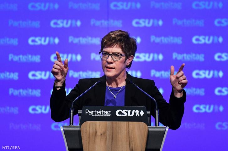 Annegret Kramp-Karrenbauer, a német Kereszténydemokrata Unió (CDU) elnöke