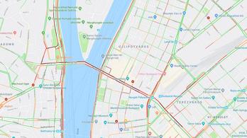 Beállt Budapest belvárosa hétfő reggel: a Nyugatitól Budáig dugó volt