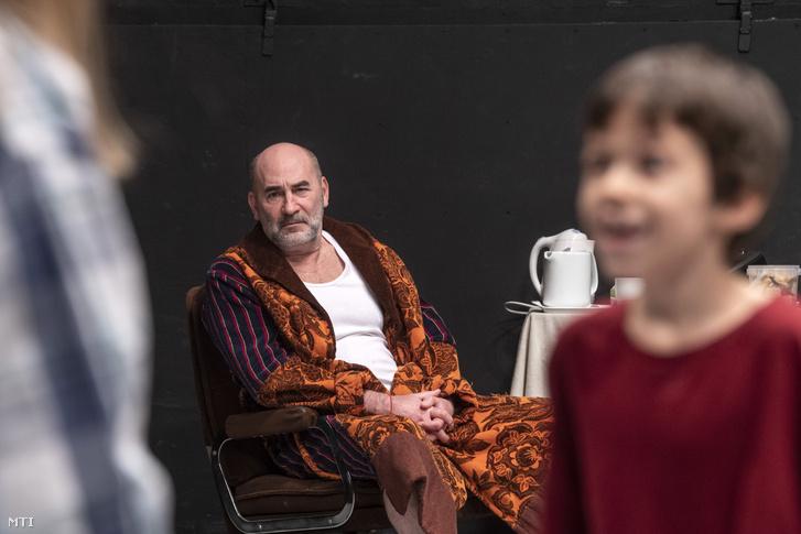 Kulka János az Árvácska című darab próbáján a Trafó Kortárs Művészetek Házában 2019. január 29-én