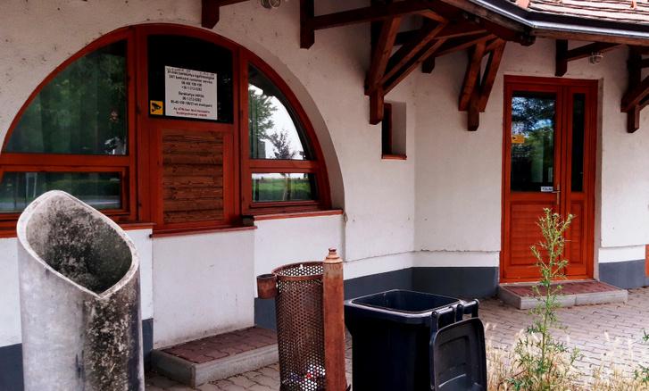 A leszerelt ATM helye
