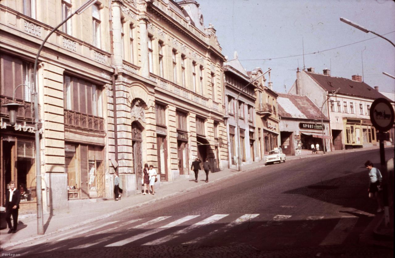 """A veszprémi Kossuth Lajos utca 7-es szám alatt ma is áll Cholnoky Jenő és híres íróbátyja, Viktor szülőháza. Az annak idején """"Ménküfogós ház"""" néven ismert épület onnan kapta nevét, hogy az első ház volt a  városban, amin volt villámhárító. Könnyű megtalálni a képen a mellette állónál egy emelettel magasabb, tőlünk legtávolabb lévő épületet ."""
