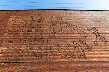 Kovács Margit alkotása művház falán