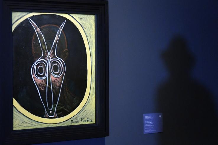 Francis Picabia A maszk és a tükör című festménye