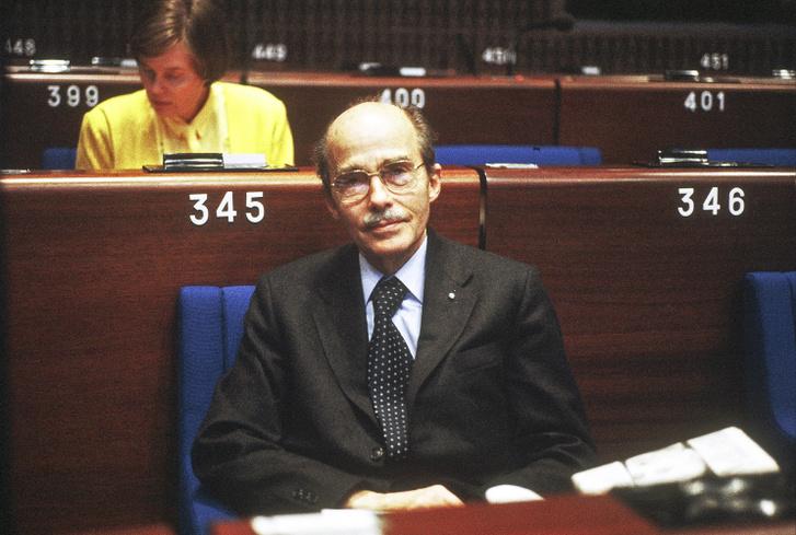 Habsburg Ottó EP-képviselő az Európai Parlament ülésén.