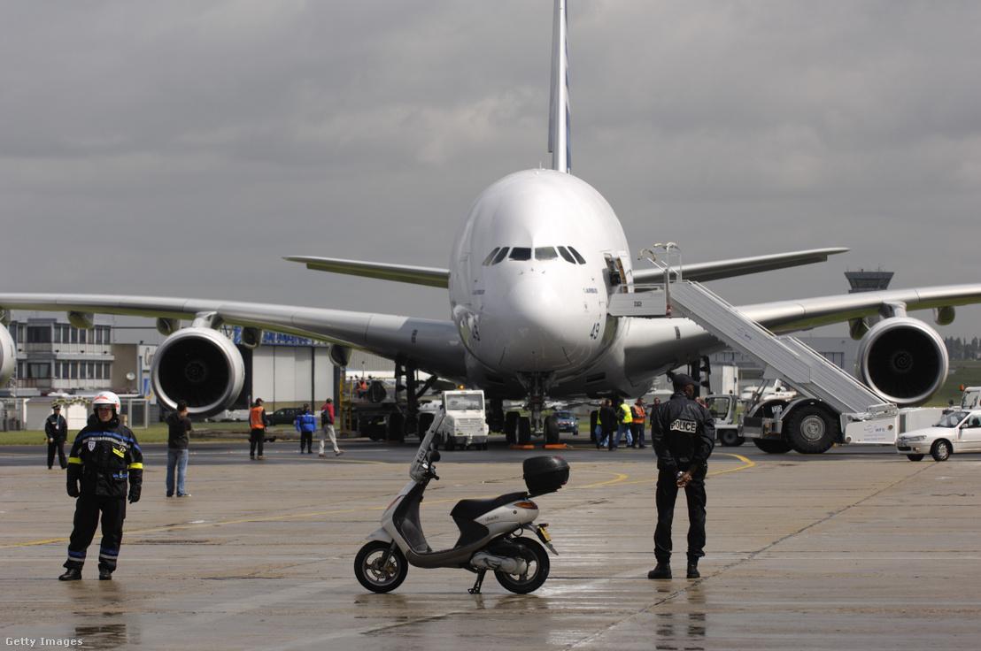 Airbus A380-as repülőgép a 2007-es párizsi légiszalonon