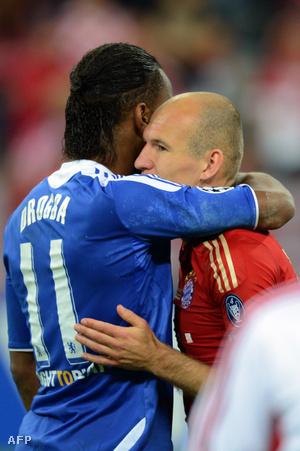 Drogba és Robben 2012-ben