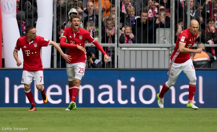 Franck Ribery, Thomas Müller és Robben