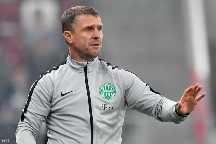 Szerhij Rebrov, a Ferencváros ukrán vezetőedzője