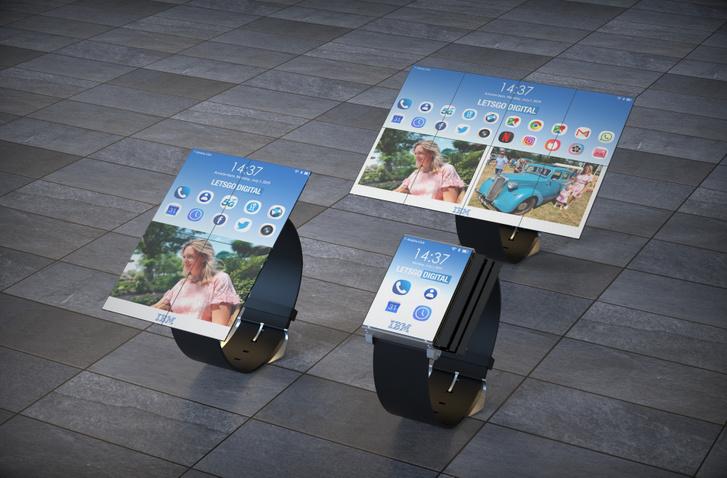 A Let's Go Digital által készített látványrajz az IBM okosóra-tablet koncepciójáról