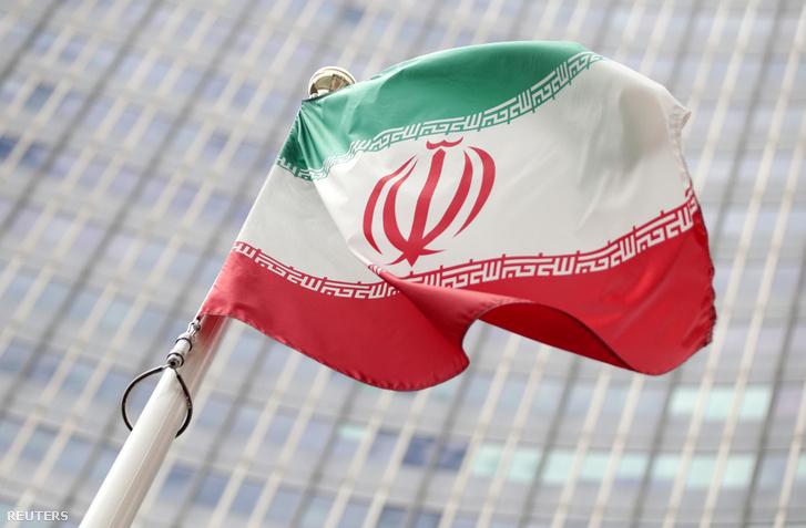 Iráni zászló Bécsben 2019. július 10-én.