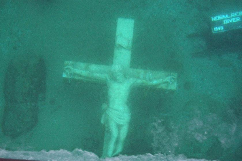 A Petoskey-ban lévő öbölbe eresztett feszületet biztonsági okokból egészen 2015-ig nem láthatták.