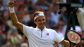 Federer századik wimbledoni győzelmével jutott az elődöntőbe