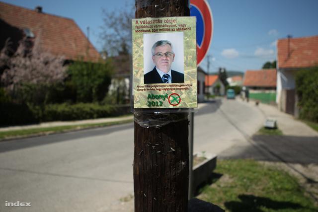 Abonyi Géza választási plakátja