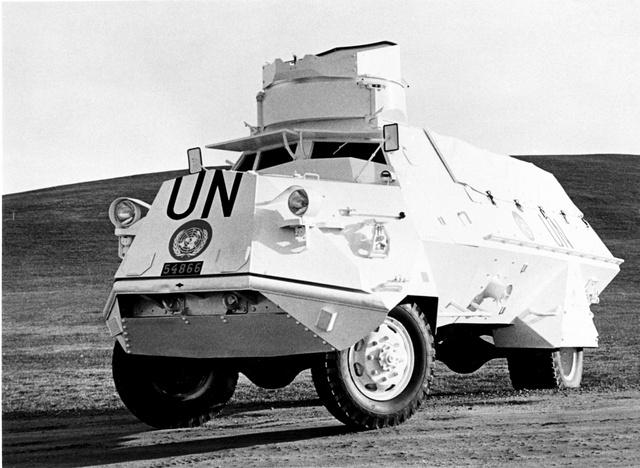 Scania-Vabis m/42 SKP az ENSZ-nél, Kongóban, 1960-ban.