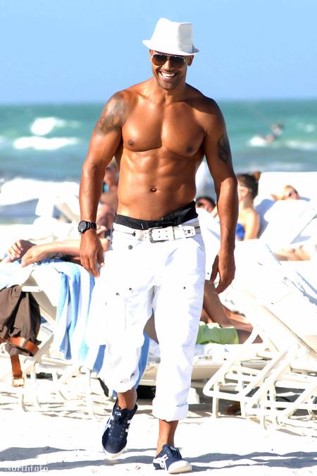 Shemar Moore a strandon Miamiben