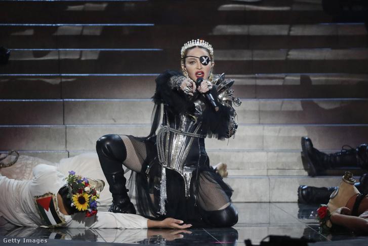 Madonna az Eurovíziós Dalfesztiválon Izraelben 2019. május 18-án.