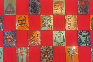 A diákok készítette csempék