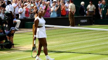 Serena Williams tizenegyedszer döntős Wimbledonban