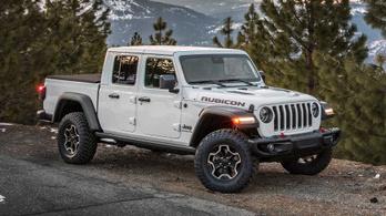 Nagy dízellel érkezik Európába a platós Jeep