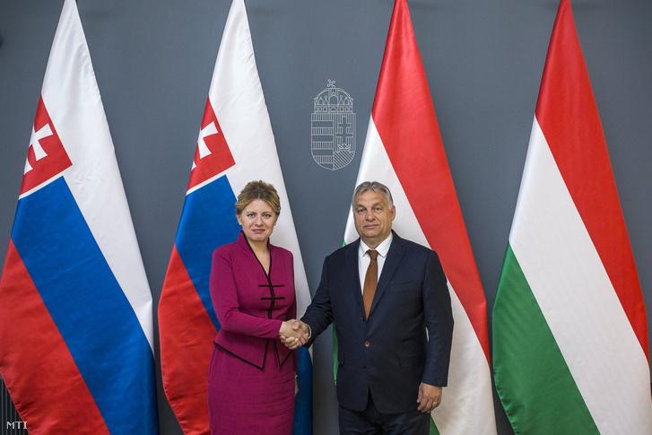 Orbán Viktor miniszterelnök fogadja Zuzana Caputová szlovák elnököt