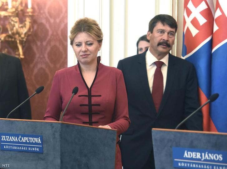 Zuzana Caputová szlovák elnök és Áder János köztársasági elnök