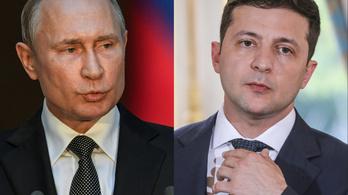 Először tárgyalt egymással Putyin és Zelenszkij