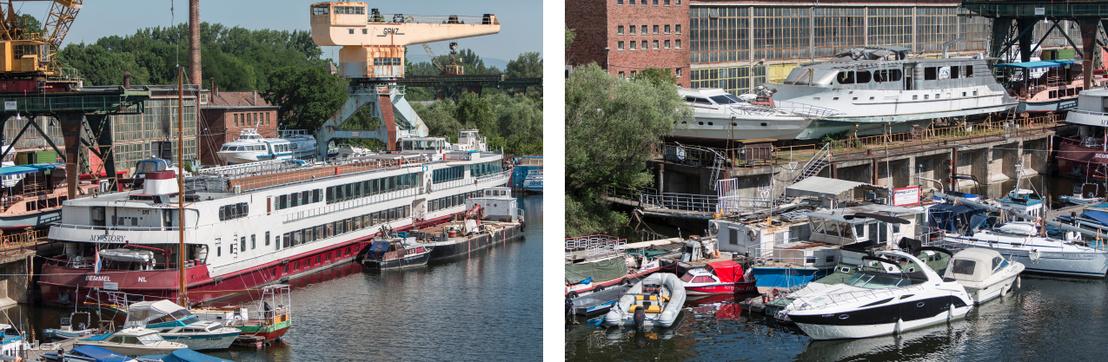 Javítás, felújítás alatt lévő hajók Újpesten