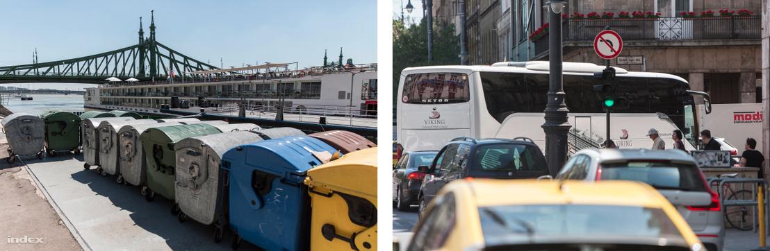 A szállodahajók rengeteg hulladékot termelnek, buszaik tucatszám járják a budapesti utakat