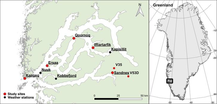 A vizsgált régészeti lelőhelyek