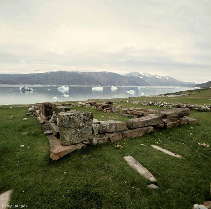 Viking település maradványai Grönlandon