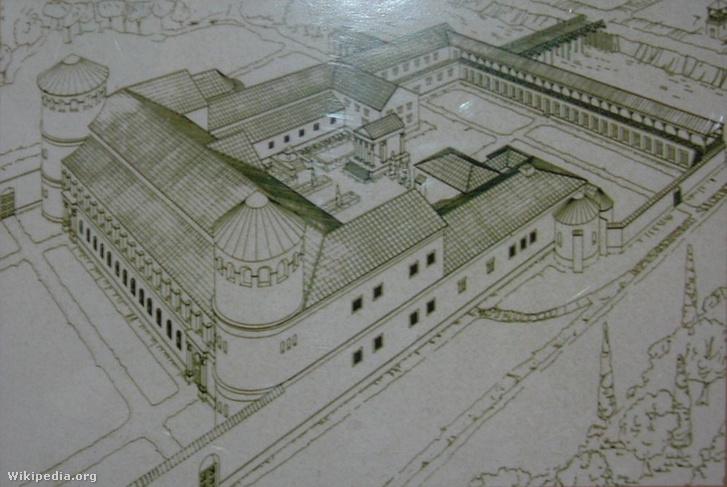 Hadrianus-palota rekonstrukciós képe