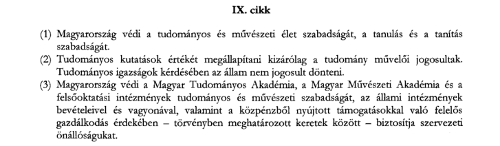 Magyarország alaptörvénye, Szabadság és felelősség, IX.cikk