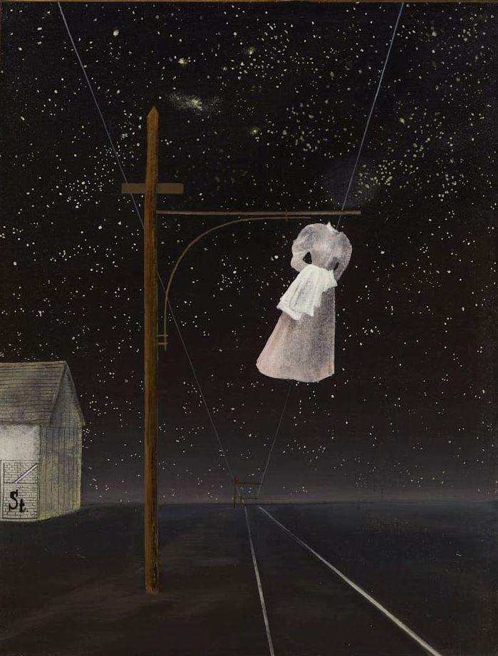 Ország Lili: Akasztott nő (vagy Rózsaszín ruha). 1956. október 23-án este készült.
