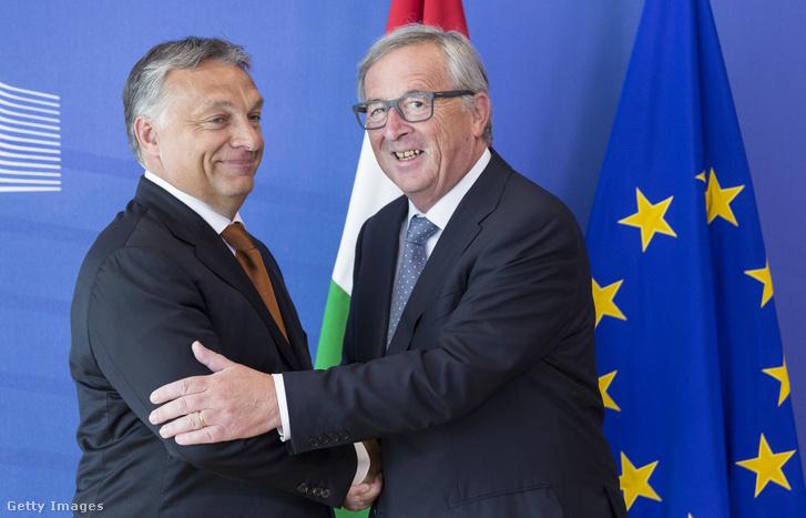 Jean-Claude Juncker és Orbán Viktor Brüsszelben 2015. szeptember 3-án